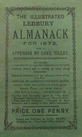 [Ledbury Library Tilleys Almanacks]