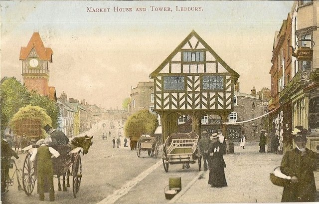 [Ledbury Market House and Barrett Browning]