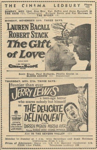 [Ledbury Cinema 1958]